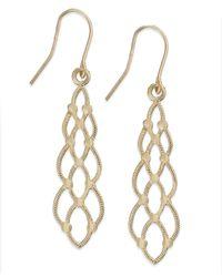 Macy's   Metallic 10k Gold Earrings, Tie Shape Earrings   Lyst