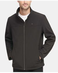 Tommy Hilfiger Black Softshell Classic Zip Jacket for men