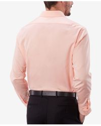 Van Heusen - Pink Men's Classic/regular Fit Stretch Solid Dress Shirt for Men - Lyst
