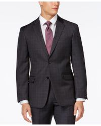Tommy Hilfiger | Gray Charcoal Windowpane Modern-fit Jacket for Men | Lyst