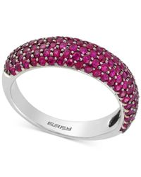 Effy Collection | Multicolor Ruby Pavé Ring (1-1/2 Ct. T.w.) In 14k White Gold | Lyst