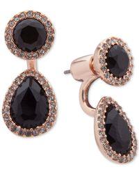 Ivanka Trump Black Pavé & Stone Jacket Earrings