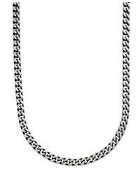 """Macy's - Multicolor Men's Black Ion Plated Stainless Steel Necklace, 24"""" 6mm Link Chain for Men - Lyst"""