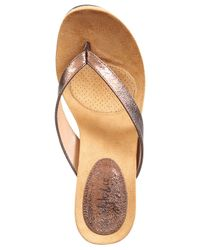 Style & Co. Metallic Style&co. Chicklet Wedge Thong Sandals, Only At Macy's