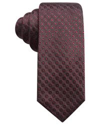 Alfani - Purple Men's Dot Slim Silk Tie for Men - Lyst