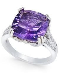 Macy's - Purple Amethyst Statement Ring (5 Ct. T.w.) In Sterling Silver - Lyst