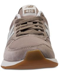 New Balance Gray Women's 420 Suede Casual Sneakers From Finish Line