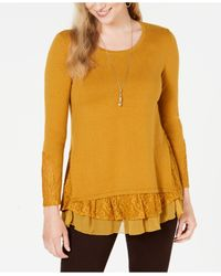 Style & Co. Yellow Layered-look Tunic, Created For Macy
