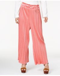 Endless Rose Pink Pleated Velvet Pants