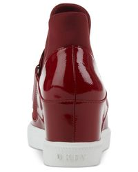 DKNY Red Cosmos Platform Sneakers, Created For Macy's