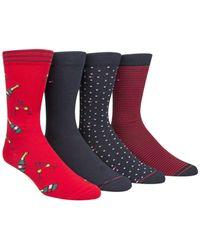 Tommy Hilfiger - Red Men's 4-pk. Champagne Socks for Men - Lyst