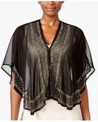 INC International Concepts - Black Beaded Evening Kimono - Lyst