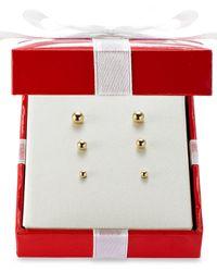 Macy's   Metallic Ball Stud Earring Set In 14k Gold   Lyst