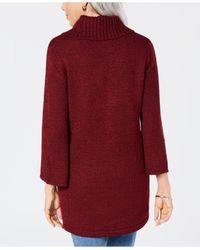 Karen Scott Red Cowlneck Tunic, Created For Macy's