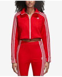 Adidas Red Originals Cropped Track Jacket