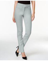 Style & Co. | Metallic Slim-leg Tummy-control Pants | Lyst