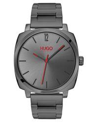 HUGO #own Gray Stainless Steel Bracelet Watch 40mm for men