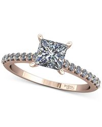 Macy's - Multicolor Diamond Cathedral Mount Setting (1/5 Ct. T.w.) In 14k Rose Gold - Lyst