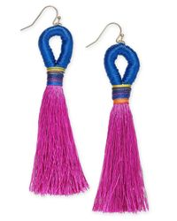 INC International Concepts - Multicolor I.n.c. Gold-tone Colored Bead & Thread Tassel Drop Earrings, Created For Macy's - Lyst