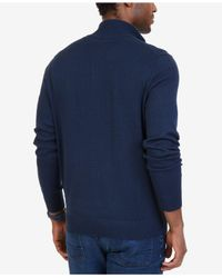 Nautica - Blue Big & Tall Quarter-zip Pullover Sweater for Men - Lyst