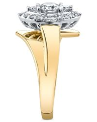 Macy's - Metallic Diamond Marquise-shape Ring (5/8 Ct. T.w.) In 14k Gold & White Gold - Lyst