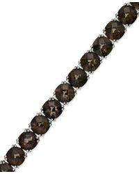 Macy's | Multicolor Sterling Silver Bracelet, Smokey Quartz Bracelet (37-1/2 Ct. T.w.) | Lyst