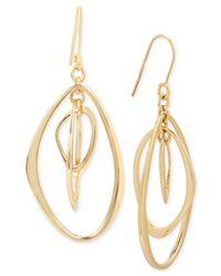 Kenneth Cole | Metallic Gold-tone Orbital Drop Earrings | Lyst