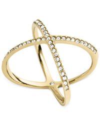Michael Kors - Metallic Circle X Ring - Lyst