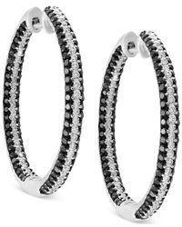 Effy Collection - Diamond In & Out Hoop Earrings (2 Ct. T.w.) In 14k White Gold - Lyst