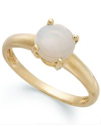 Macy's | Metallic 18k Gold Over Sterling Silver Ring, Opal Accent October Birthstone Ring | Lyst