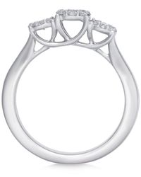Macy's - Metallic Diamond Triple Halo Engagement Ring (1/2 Ct. T.w.) In 14k White Gold - Lyst