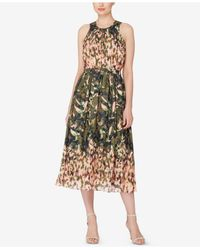 Catherine Malandrino - Multicolor Printed Fit & Flare Dress - Lyst