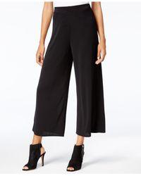Kensie - Black Cropped Wide-leg Pants - Lyst