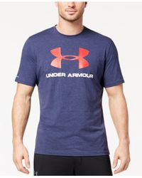 Under Armour Blue Sportstyle Logo T-shirt for men