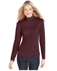 Style & Co.   Black Long-sleeve Mock Turtleneck   Lyst