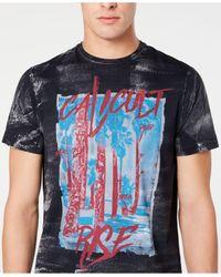 Buffalo David Bitton Black Tiburn Graphic T-shirt for men
