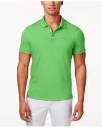 Calvin Klein Green Core Interlock Liquid Cotton Polo for men