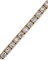 Macy's   Metallic Diamond Bracelet In 14k Gold (2 Ct. T.w.)   Lyst