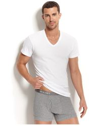 2xist | White Men's Underwear, Essential Range Slim-fit Deep V-neck T-shirt 3 Pack for Men | Lyst