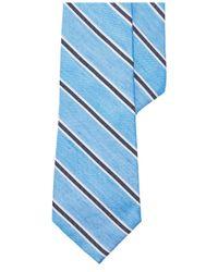 Lauren by Ralph Lauren - Blue Striped Silk-linen Tie for Men - Lyst