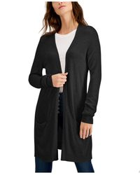 Style & Co. Black Petite Long Cardigan, Created For Macy