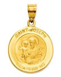 Macy's Metallic 14k Gold Charm, Saint Joseph Medal Charm