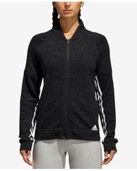 Adidas Sport-2-street Track Jacket (black Melange/black) Coat