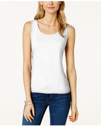 Charter Club - White Layering Shell, Only At Macy's - Lyst