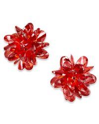 Kate Spade   Red Gold-tone Multi-crystal Stud Earrings   Lyst