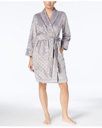 Charter Club - Gray Metallic-print Robe, Created For Macy's - Lyst