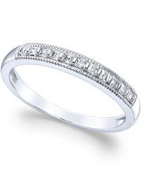 Macy's Diamond Milgrain Ring In 14k White Gold (1/4 Ct. T.w.)
