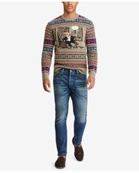 Polo Ralph Lauren - Multicolor Men's Iconic Bear Isle Sweater for Men - Lyst