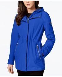 CALVIN KLEIN 205W39NYC - Blue Layered Softshell Coat - Lyst