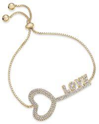 Joan Boyce - Metallic Pavé Love Key Slider Bracelet - Lyst